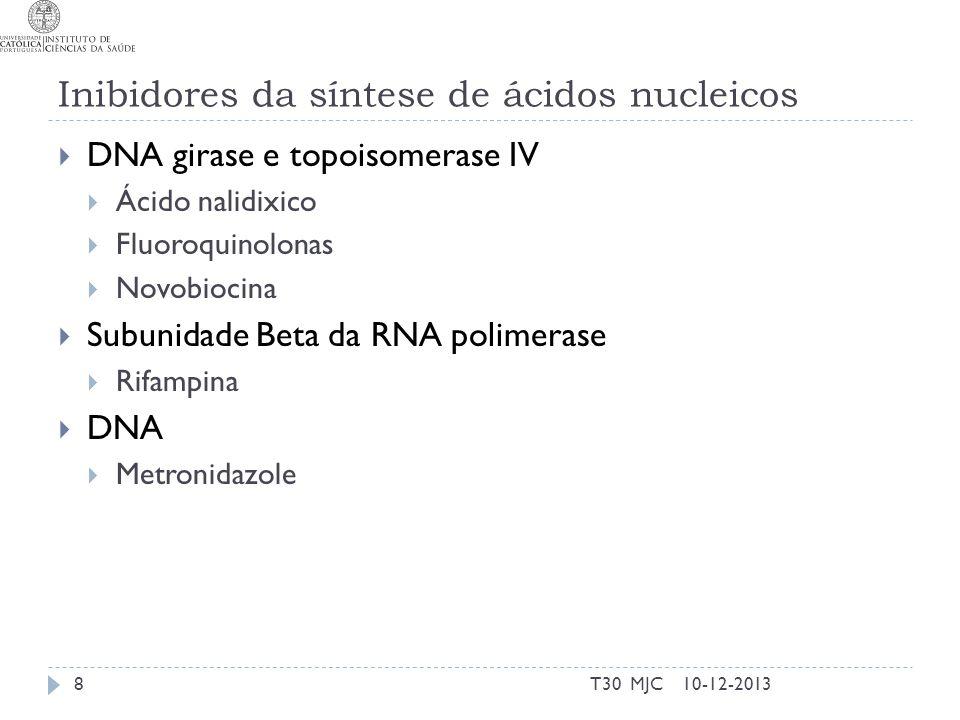 Inibidores da síntese de ácidos nucleicos
