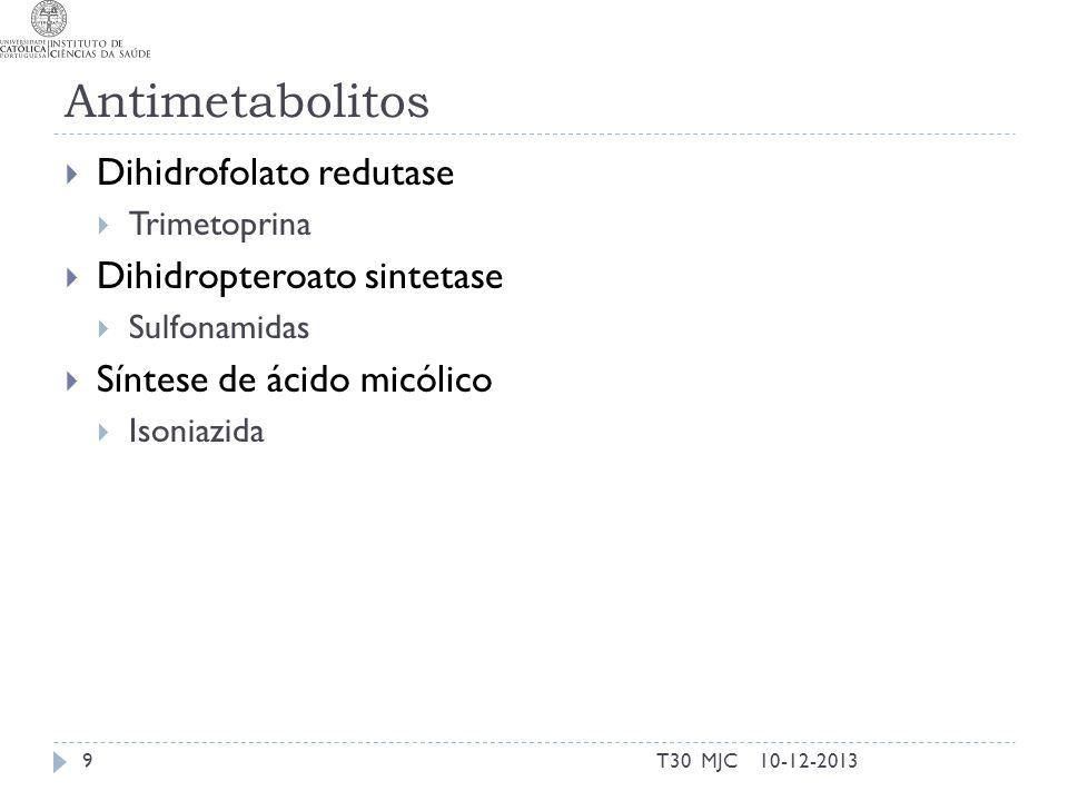 Antimetabolitos Dihidrofolato redutase Dihidropteroato sintetase