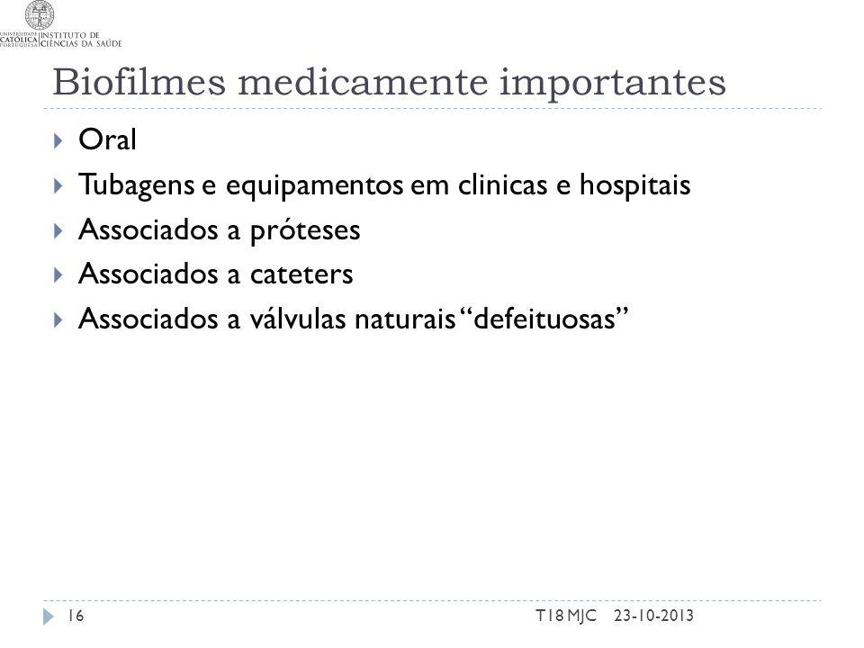 Biofilmes medicamente importantes