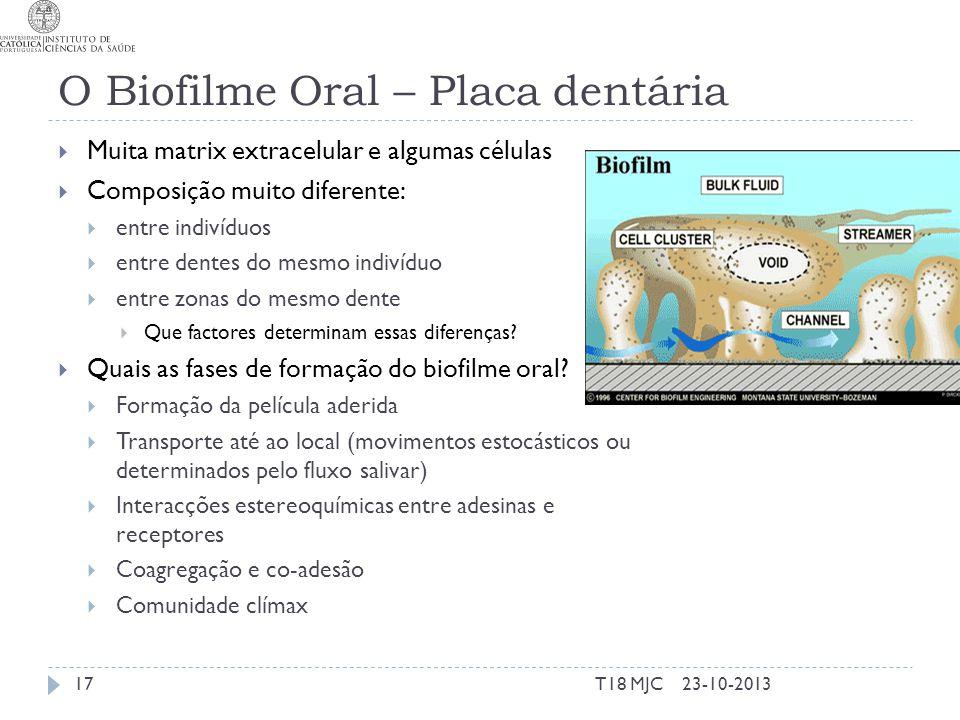 O Biofilme Oral – Placa dentária