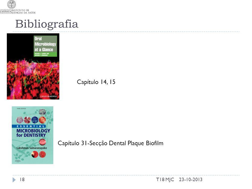 Bibliografia Capítulo 14, 15 Capítulo 31-Secção Dental Plaque Biofilm