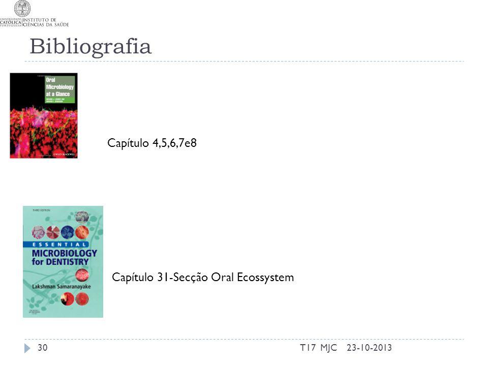 Bibliografia Capítulo 4,5,6,7e8 Capítulo 31-Secção Oral Ecossystem