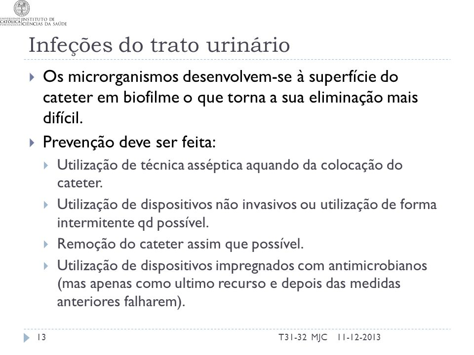 Infeções do trato urinário