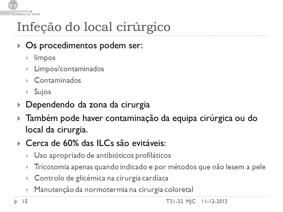 Infeção do local cirúrgico