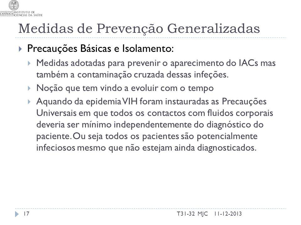 Medidas de Prevenção Generalizadas