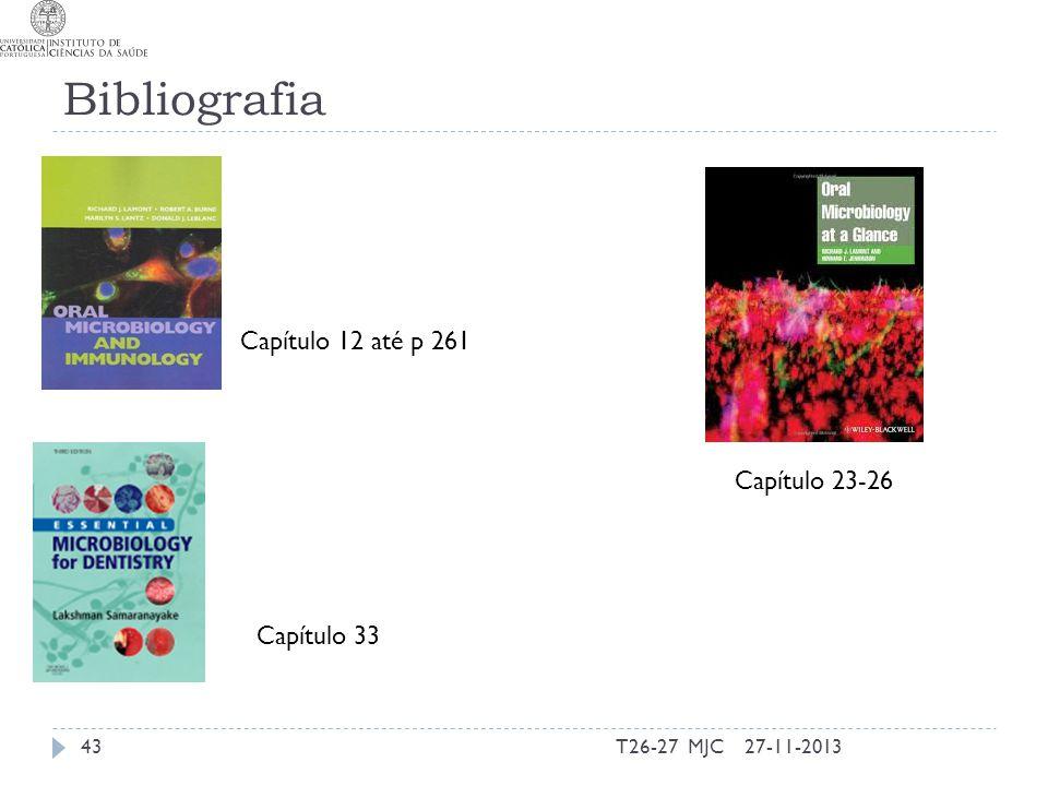 Bibliografia Capítulo 12 até p 261 Capítulo 23-26 Capítulo 33