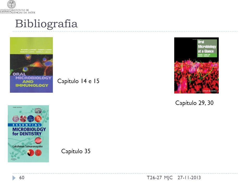 Bibliografia Capítulo 14 e 15 Capítulo 29, 30 Capítulo 35 T26-27 MJC