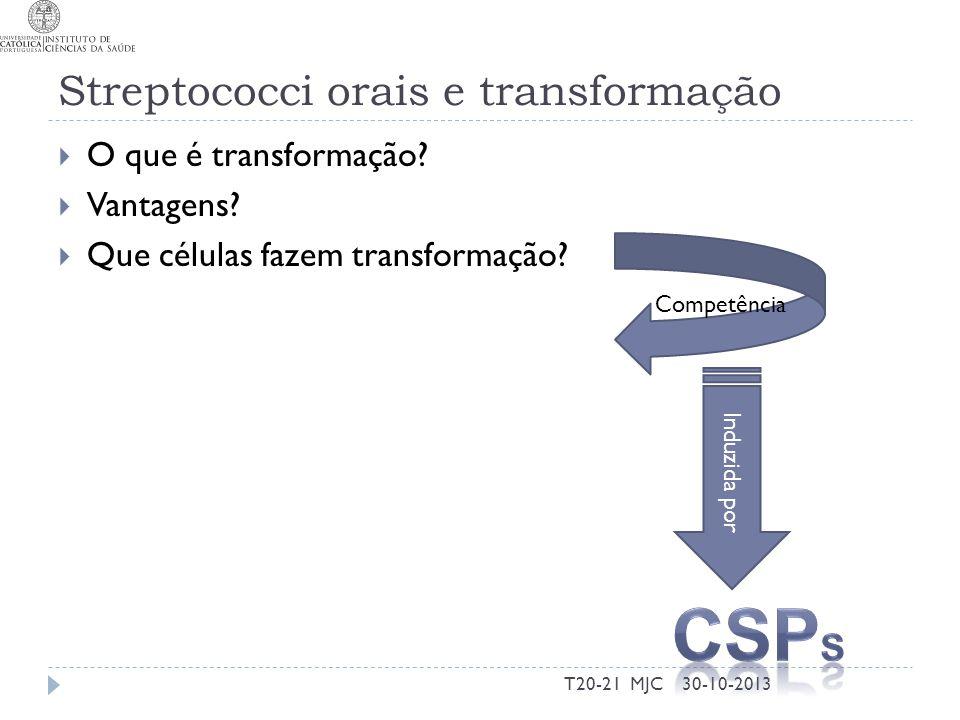 Streptococci orais e transformação