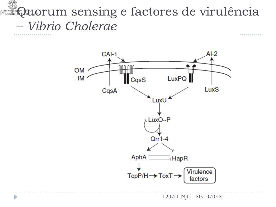 Quorum sensing e factores de virulência – Vibrio Cholerae