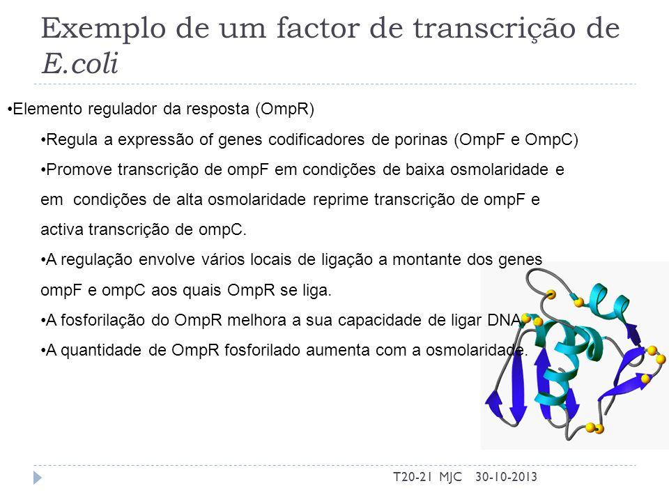Exemplo de um factor de transcrição de E.coli