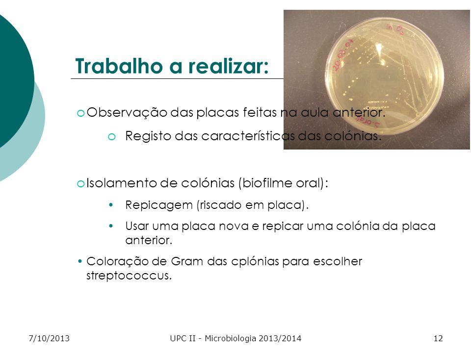 UPC II - Microbiologia 2013/2014