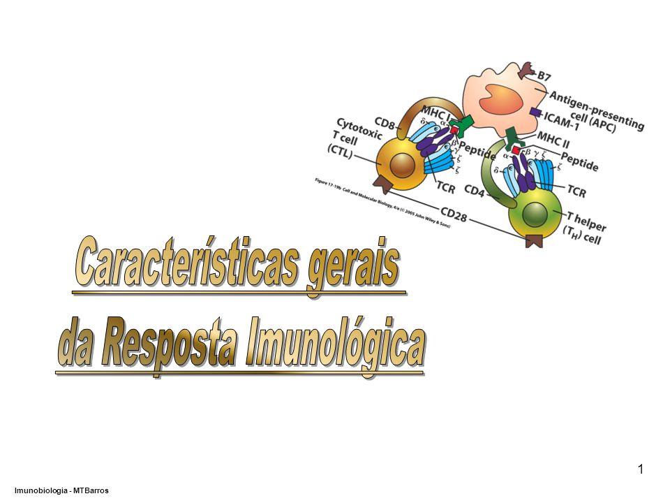 Características gerais da Resposta Imunológica