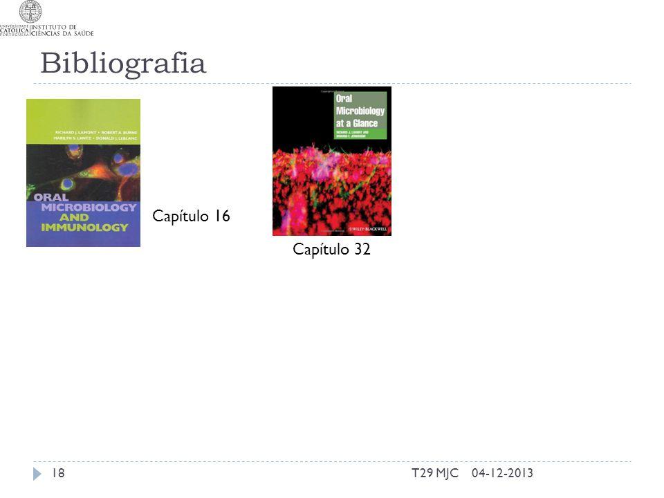 Bibliografia Capítulo 16 Capítulo 32 T29 MJC 04-12-2013