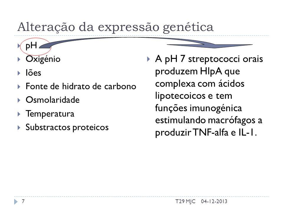Alteração da expressão genética