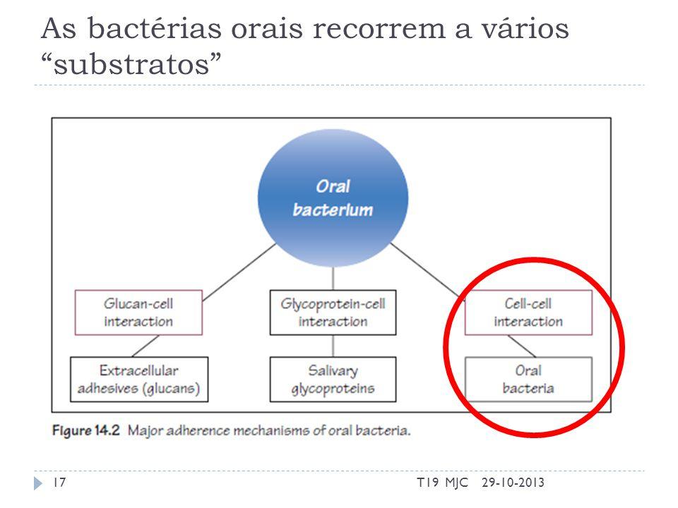 As bactérias orais recorrem a vários substratos