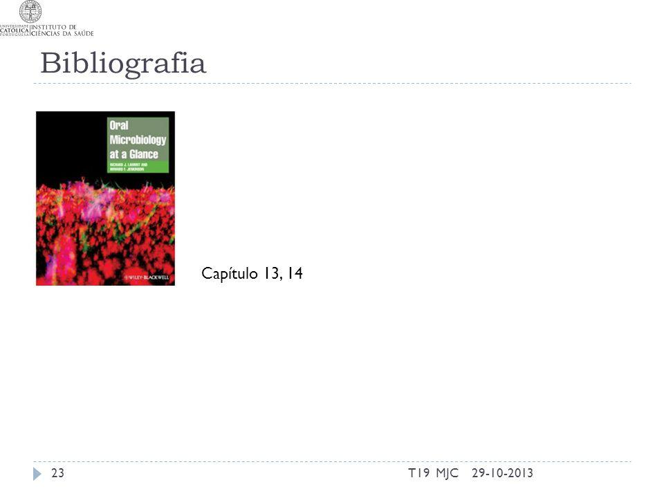 Bibliografia Capítulo 13, 14 T19 MJC 29-10-2013