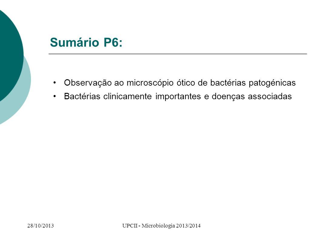 UPCII - Microbiologia 2013/2014