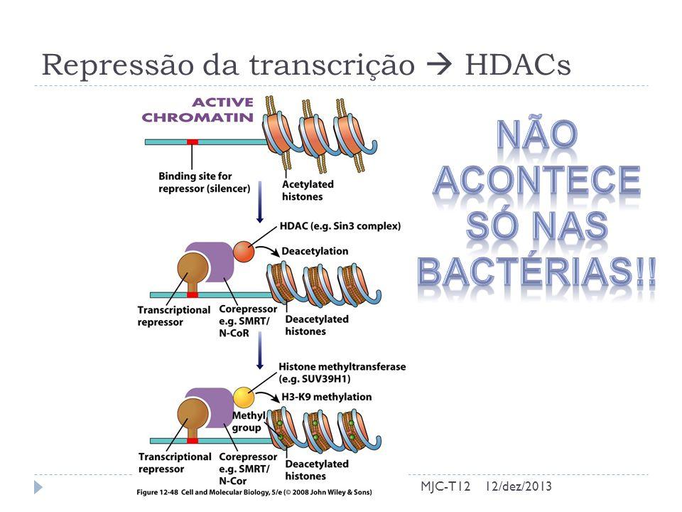 Repressão da transcrição  HDACs
