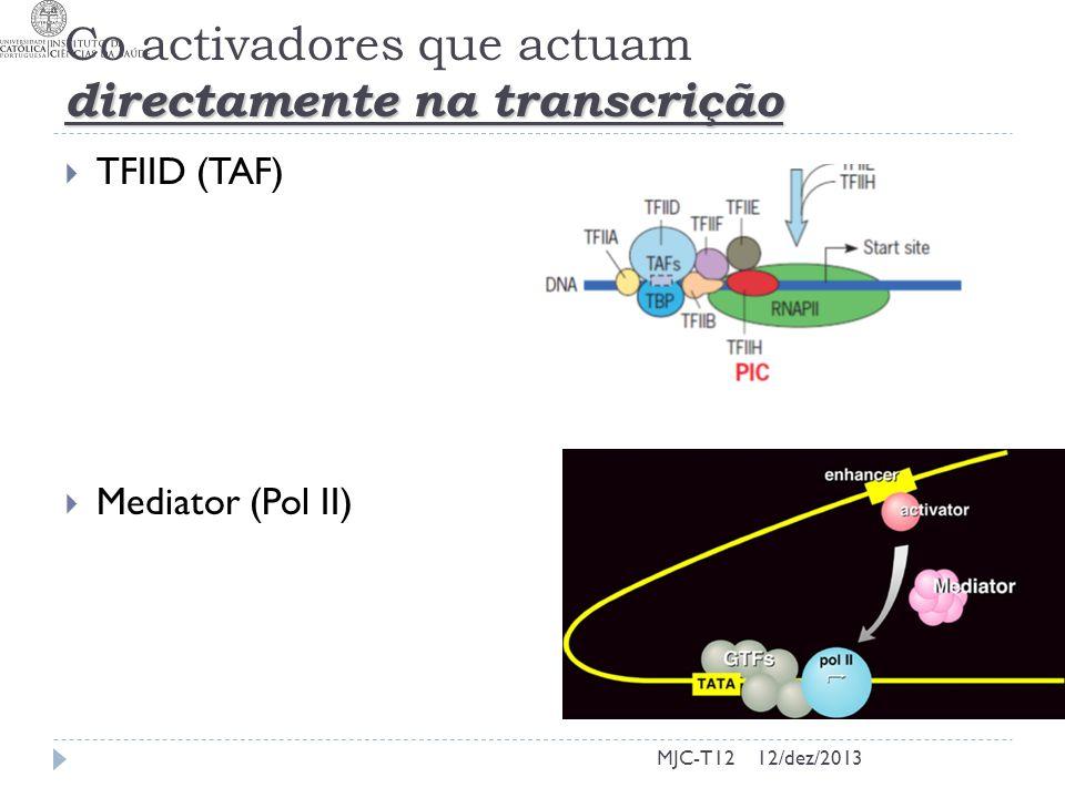 Co activadores que actuam directamente na transcrição