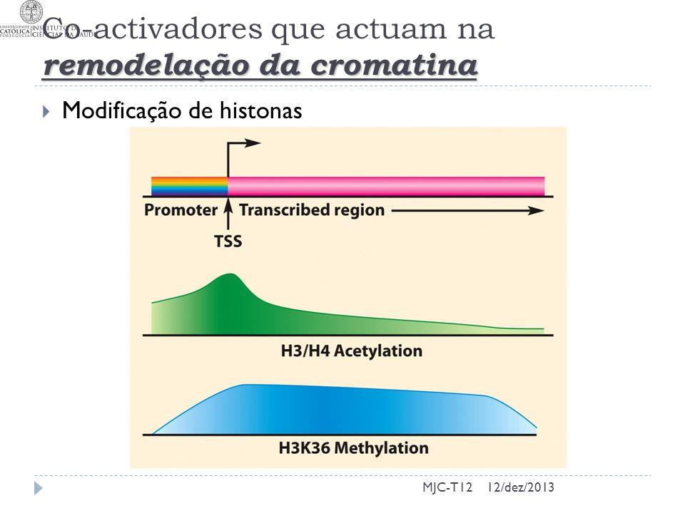 Co-activadores que actuam na remodelação da cromatina