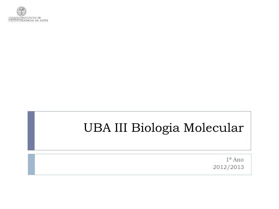 UBA III Biologia Molecular