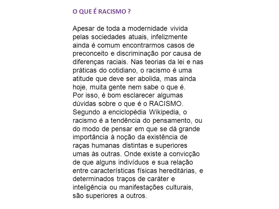 O QUE É RACISMO .