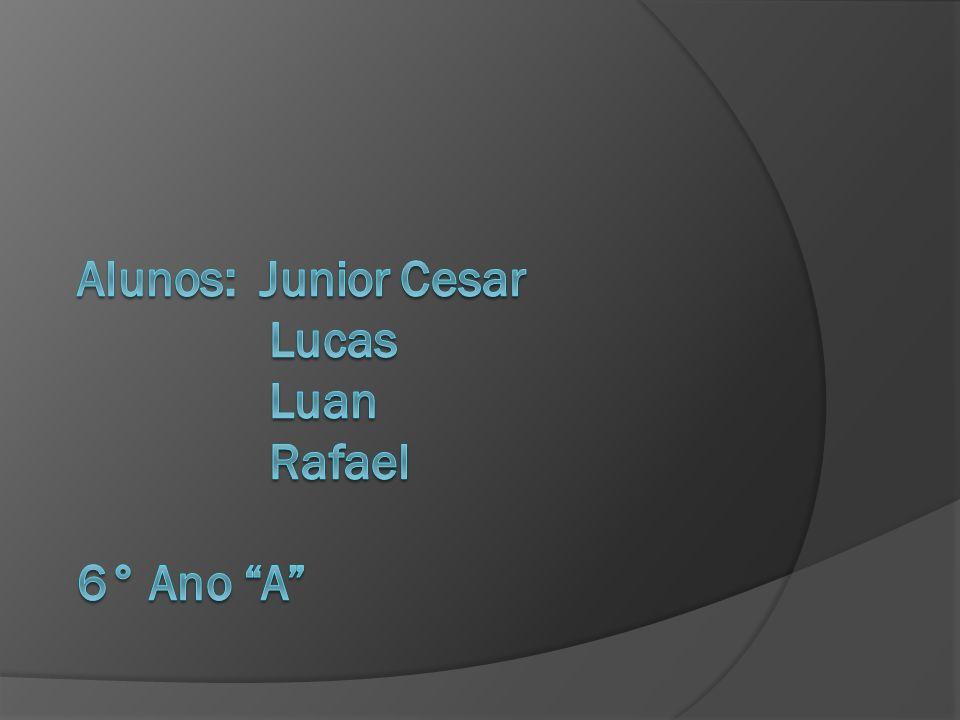 Alunos: Junior Cesar Lucas Luan Rafael 6° Ano A