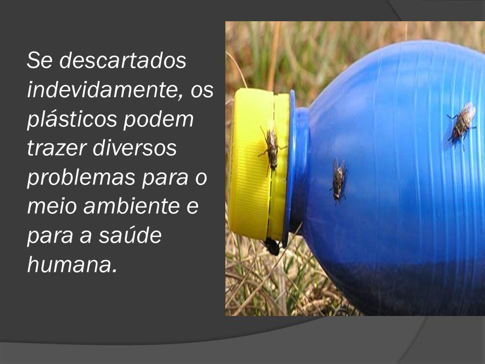 Se descartados indevidamente, os plásticos podem trazer diversos problemas para o meio ambiente e para a saúde humana.
