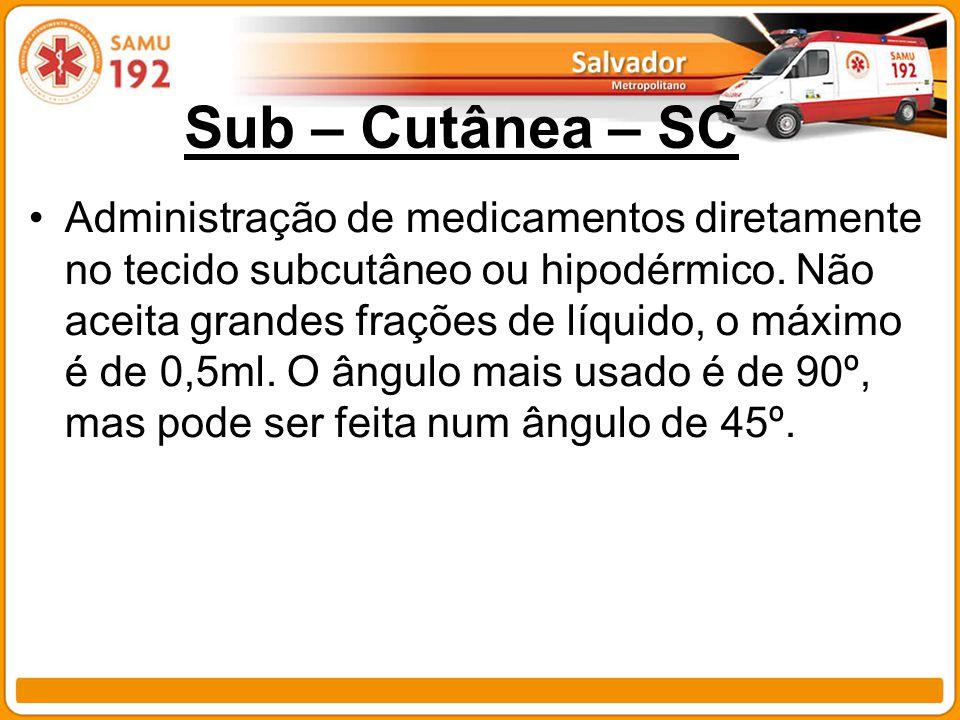 Sub – Cutânea – SC