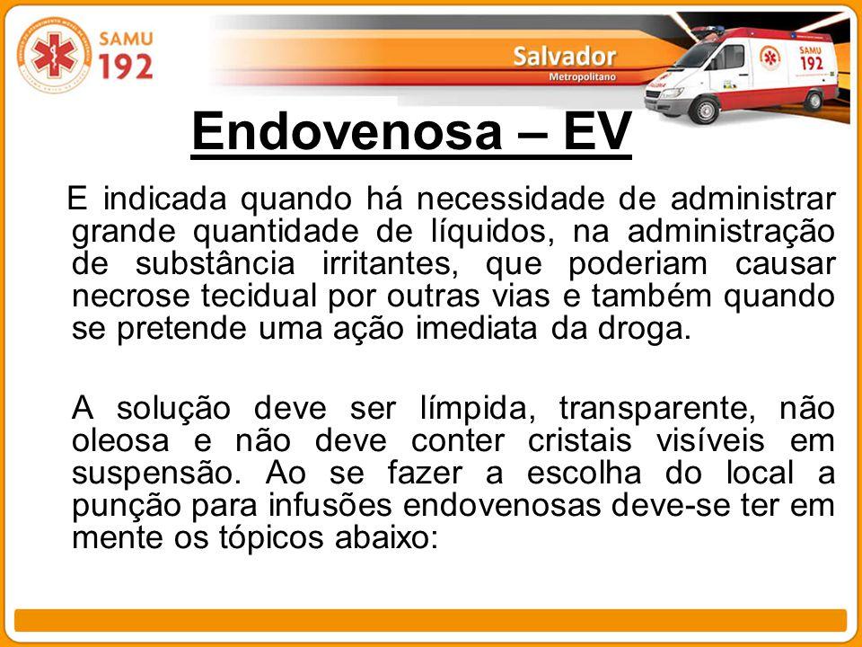 Endovenosa – EV