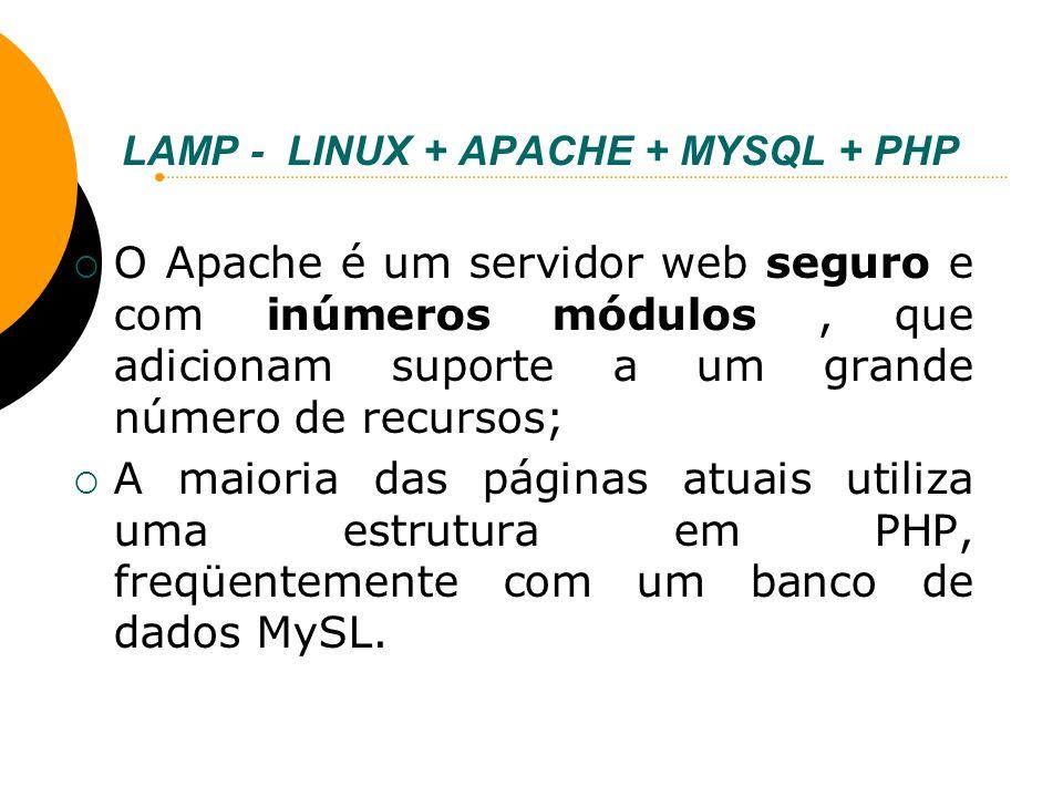 LAMP - LINUX + APACHE + MYSQL + PHP