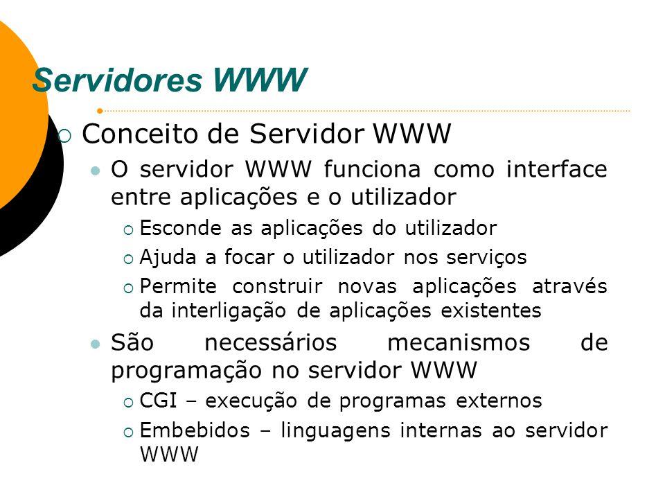 Servidores WWW Conceito de Servidor WWW
