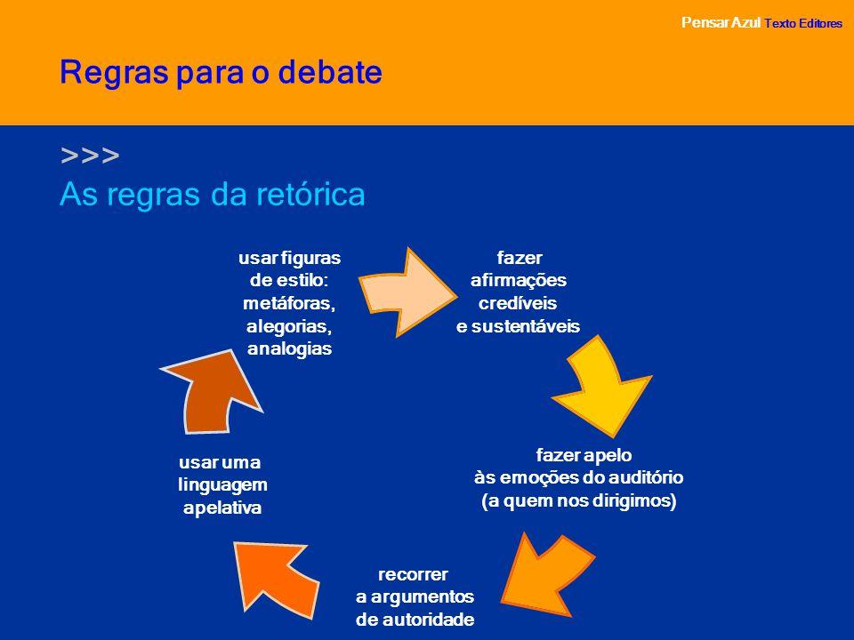 Regras para o debate >>> As regras da retórica
