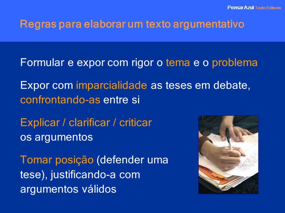 Regras para elaborar um texto argumentativo