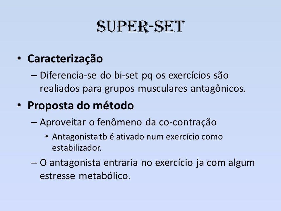 Super-set Caracterização Proposta do método