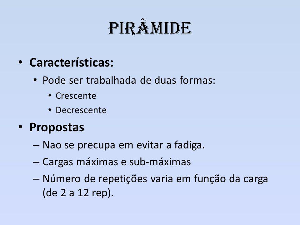 Pirâmide Características: Propostas