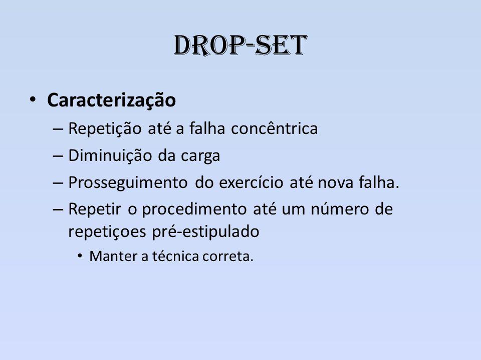 Drop-set Caracterização Repetição até a falha concêntrica