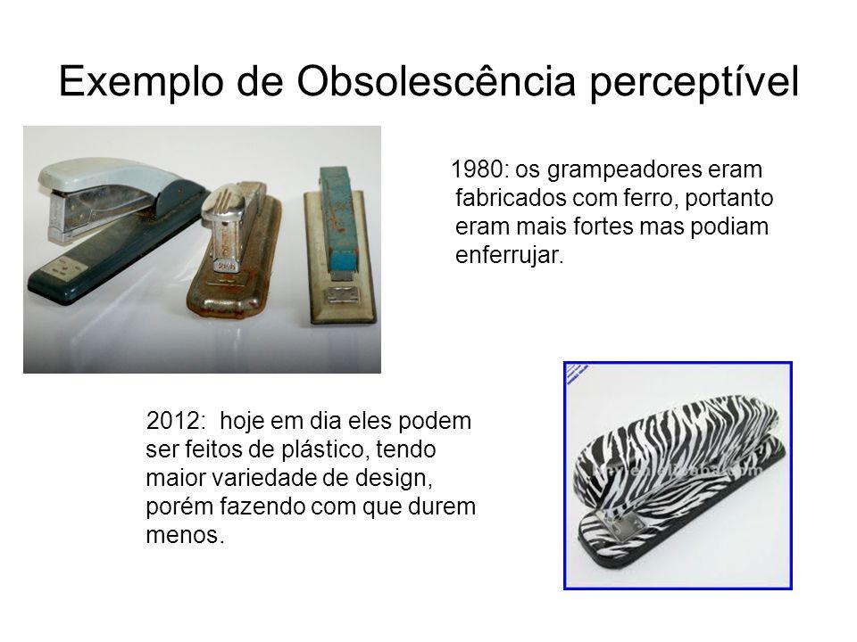Exemplo de Obsolescência perceptível