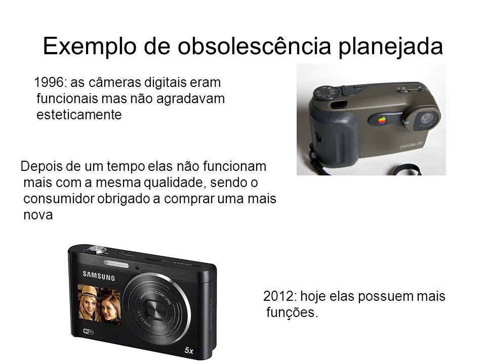 Exemplo de obsolescência planejada