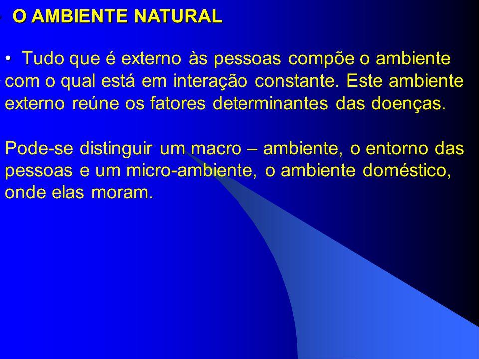 O AMBIENTE NATURAL