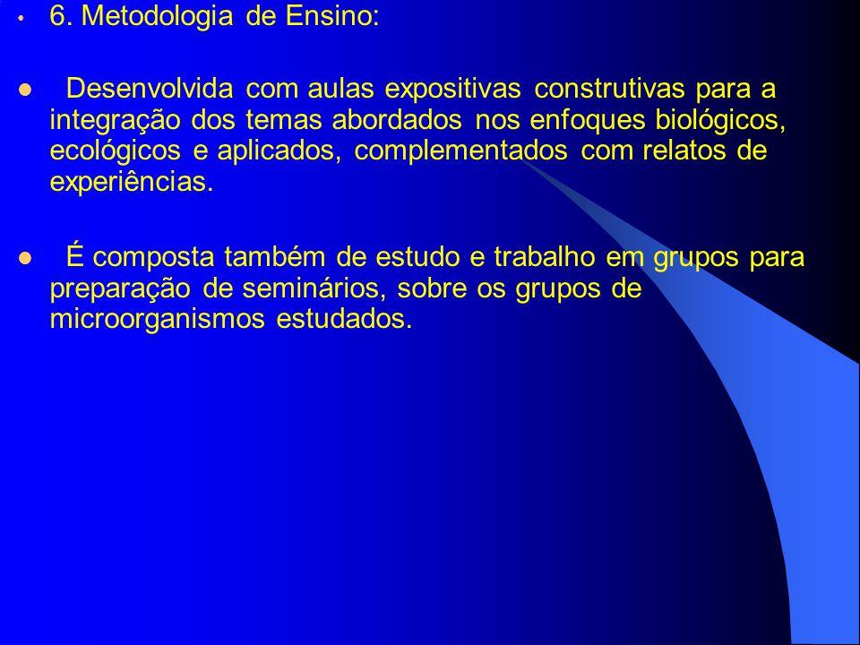 6. Metodologia de Ensino: