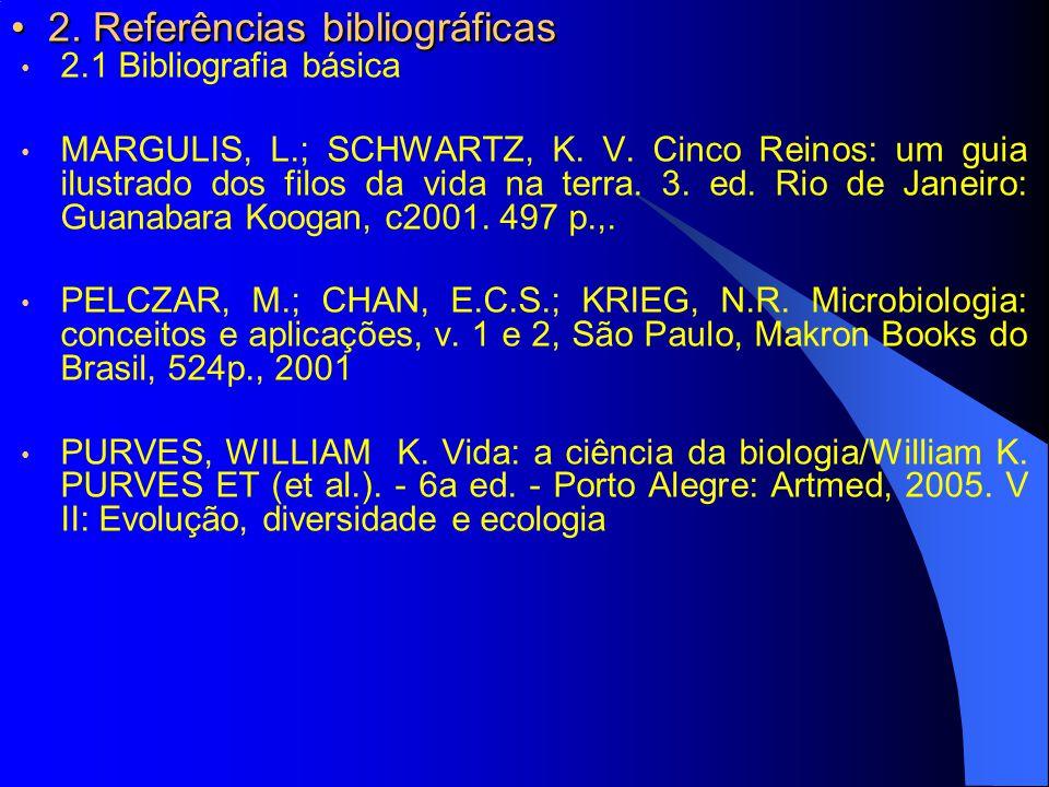 2. Referências bibliográficas