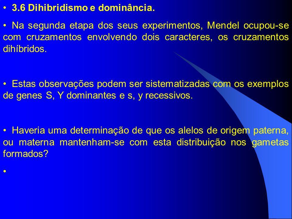 3.6 Dihibridismo e dominância.