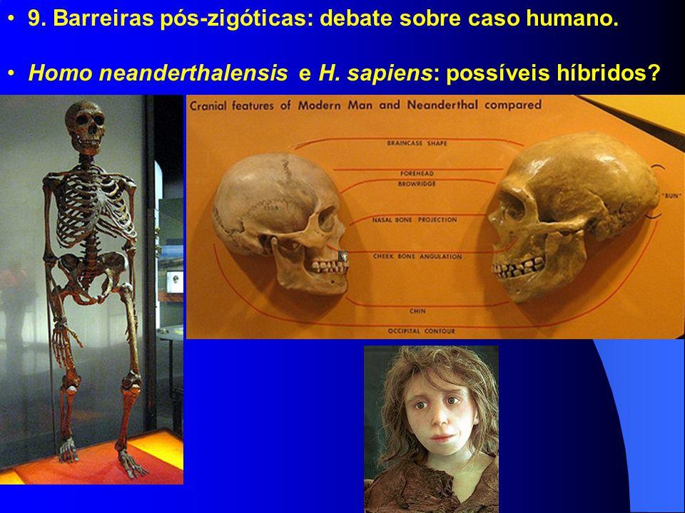 9. Barreiras pós-zigóticas: debate sobre caso humano.