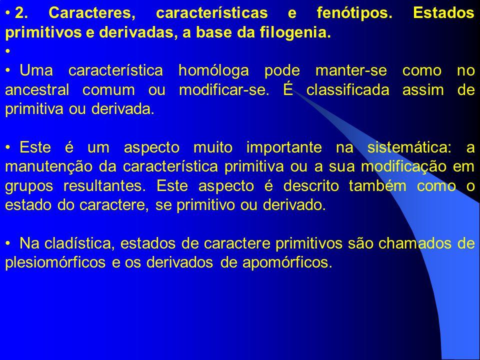 2. Caracteres, características e fenótipos