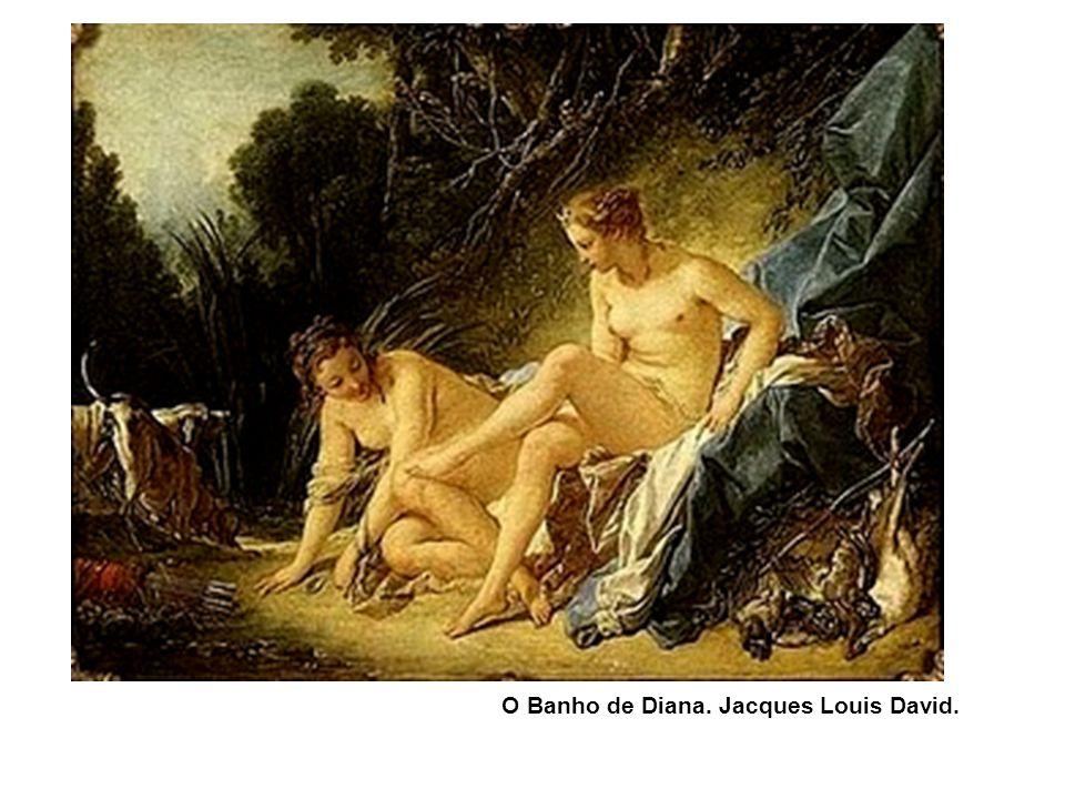 O Banho de Diana. Jacques Louis David.