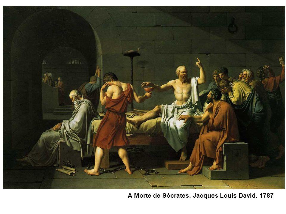A Morte de Sócrates. Jacques Louis David. 1787