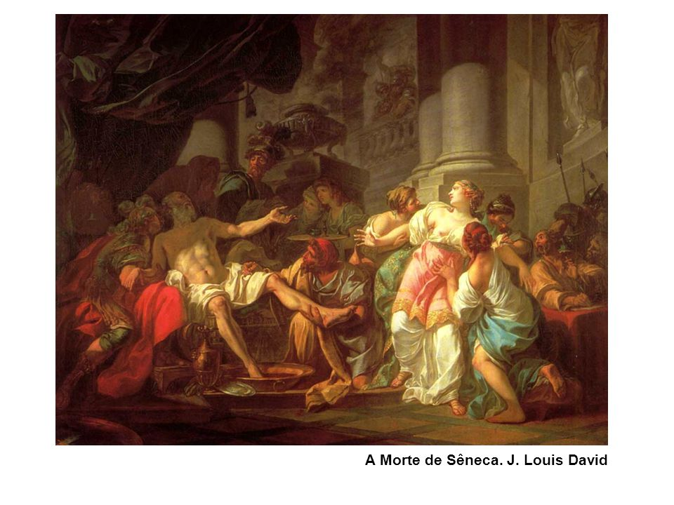A Morte de Sêneca. J. Louis David