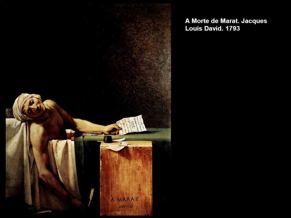 A Morte de Marat. Jacques Louis David. 1793