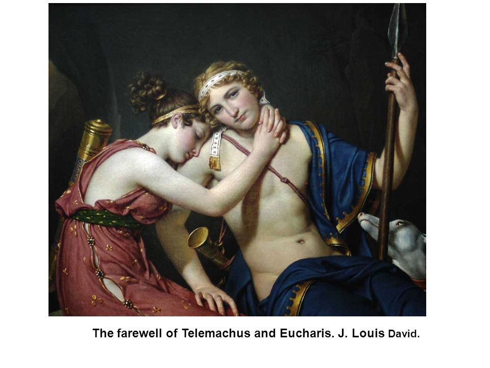 The farewell of Telemachus and Eucharis. J. Louis David.
